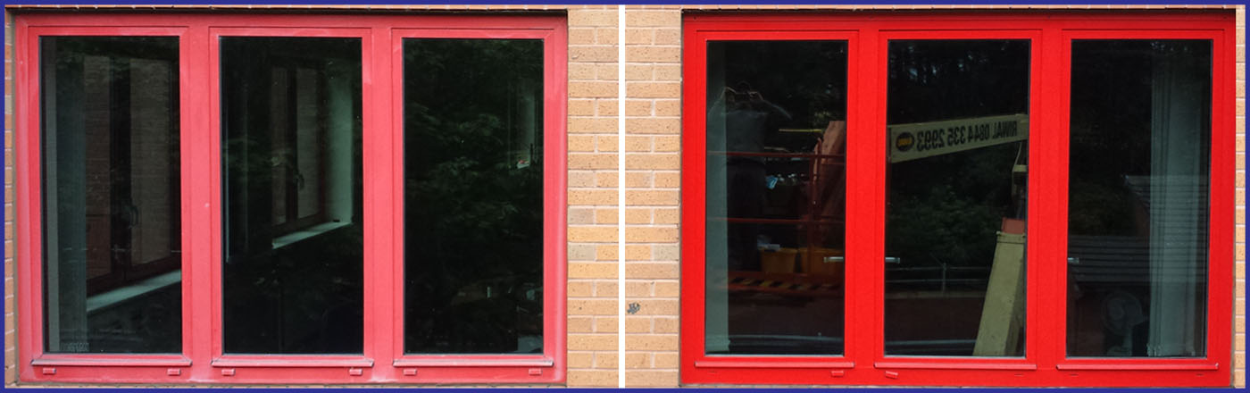powder coated aluminium window frame